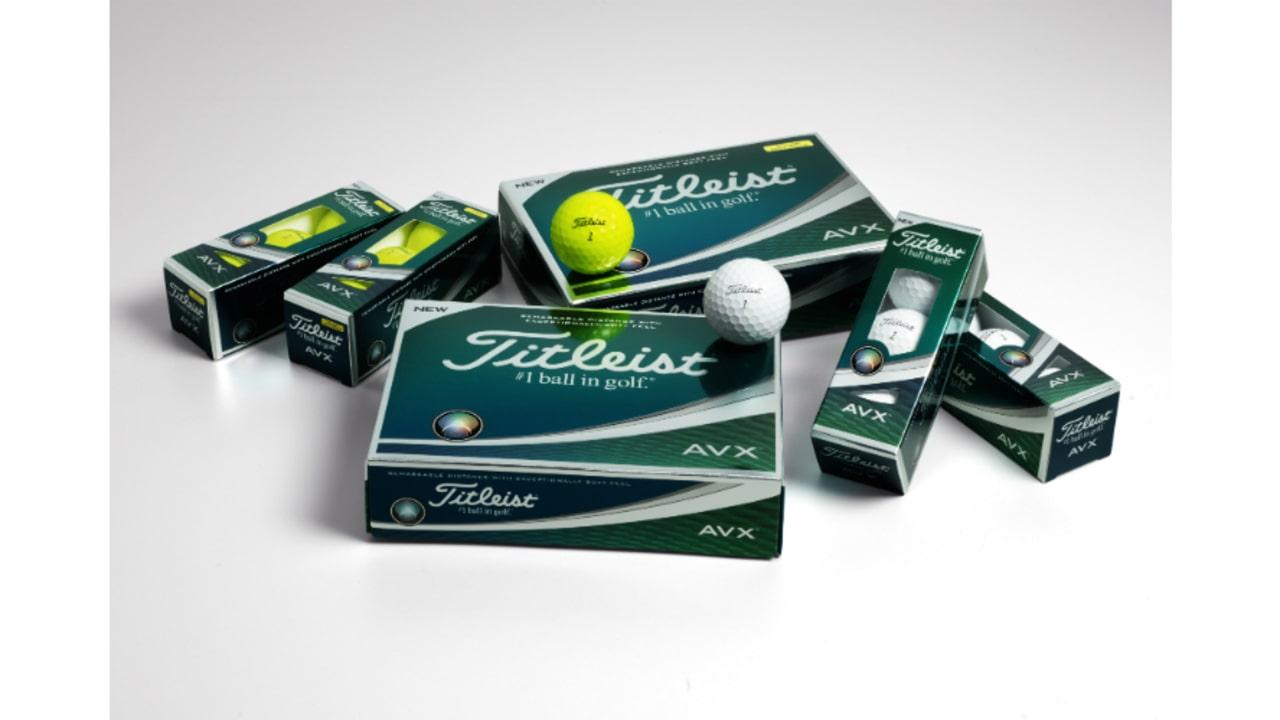 Die überwiegende Farbe der Verpackung des Titleist AVX Golfballes ist grün.<br>(Foto: Titleist)