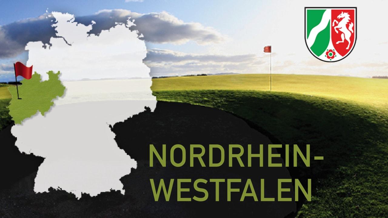 Golfen im Bundesland Nordrhein Westfalen