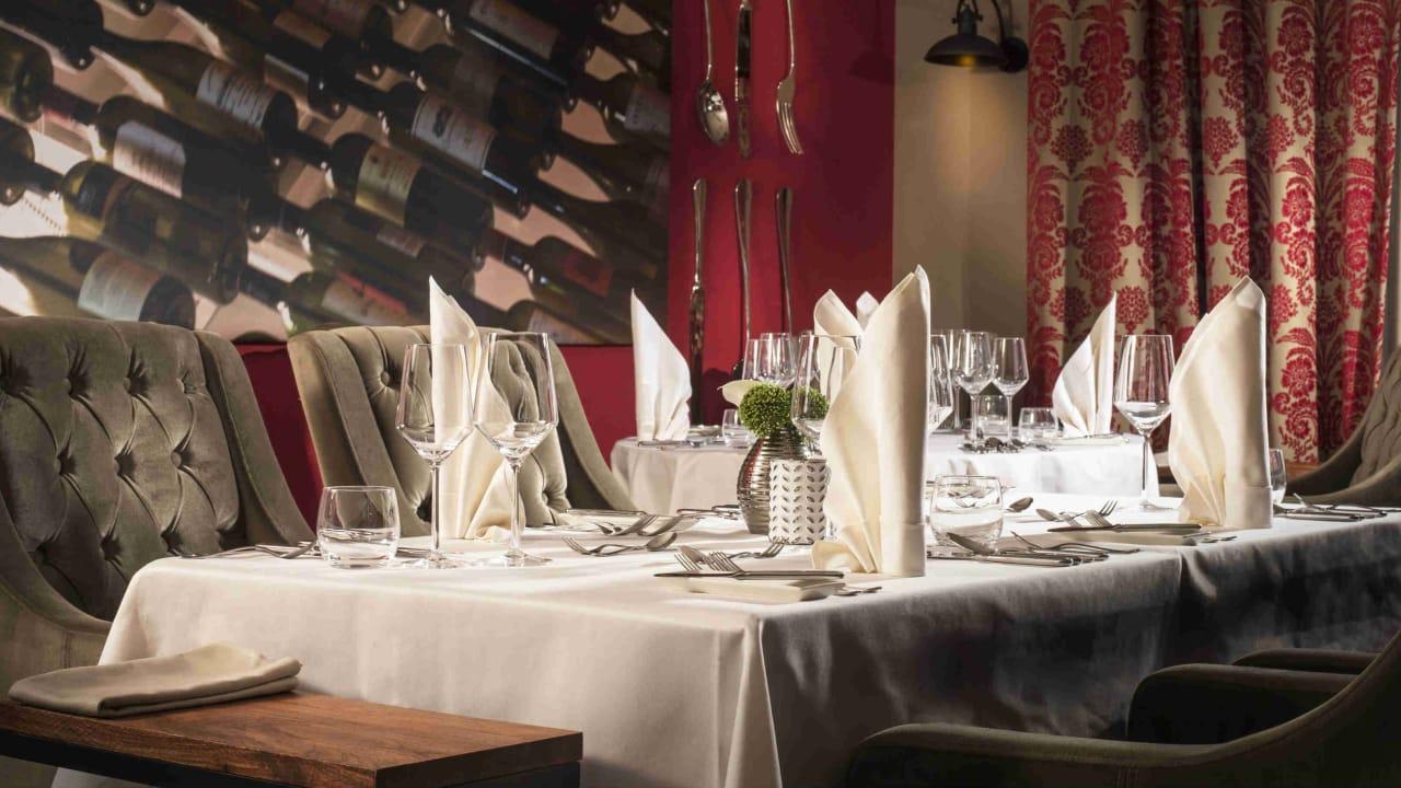 Im Restaurant Masters genießen Sie eine mediterrane, frankophile Küche mit regionalen Produkten. (Foto: Spa & GolfResort Weimarer Land)