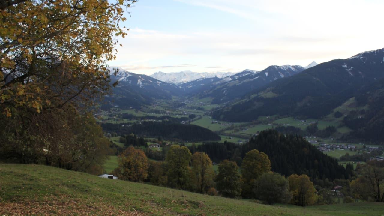 In den Alpentälern schmiegen sich die Dörfer an die Bergseiten.