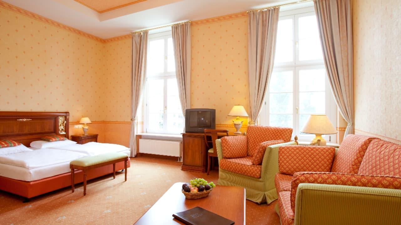 Übernachtet in einem der 93 Zimmer und Suiten. (Foto: Landhotel Schloss Teschow)