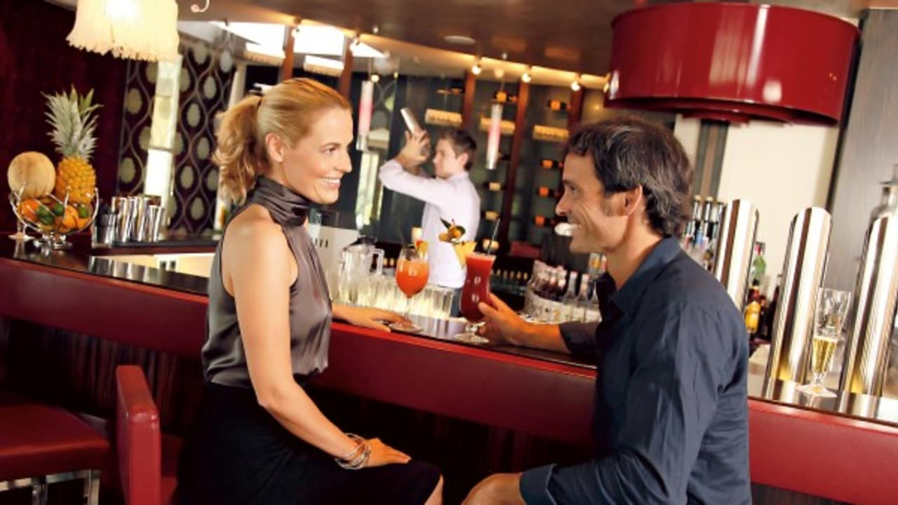 An der Bar werden Cocktails und andere Drinks angeboten. (Foto: Werzer's)