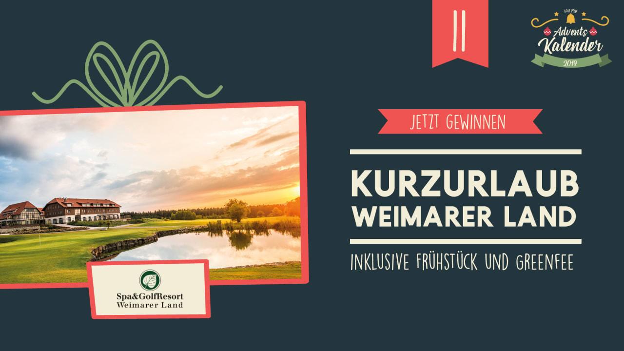 Adventskalender 2019: 11. Dezember mit Spa & GolfResort Weimarer Land. Quelle: Golf Post