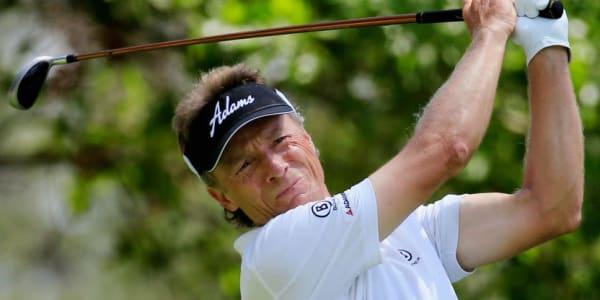 Bernhard Langer spielte ein ganz starkes Turnier auf der Champions Tour, musste sich am Ende aber Miguel Angel Jiménez geschlagen geben.