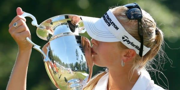 Jessica Korda bei der Airbus LPGA Classic 2014
