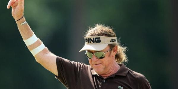 Miguel Angel Jiménez spielte am zweiten Tag der US Open einen der besonders spektakulären Schläge.