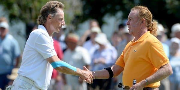 Bernhard Langer wird auf Hawaii zum zweiten Mal auf der Champions Tour auf Miguel A. Jiménez treffen. (Bild: Getty)