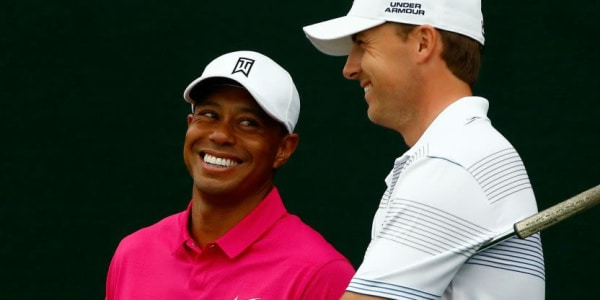 Wächst Jordan Spieth Tiger Woods langsam über den Kopf? Die USA hofft mit Spieth auf eine neue Golfikone.