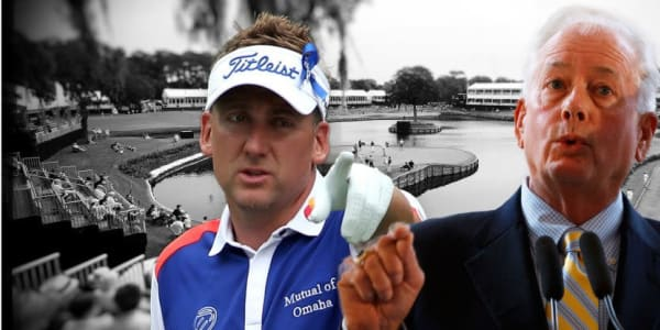Ian Poulter und Ted Bishop (re.) weiter im Clinch. (Foto: Getty/Golf Post)