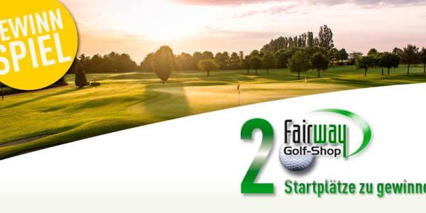 Zwei Startplätze für das Benefiz Golfturnier des Fairway Golf-Shops.