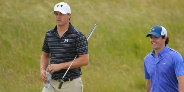 Jordan Spieth nutzt die Verletzungspause von Rory McIlroy um ihm immer mehr auf die Pelle zu rücken. (Foto: Getty)
