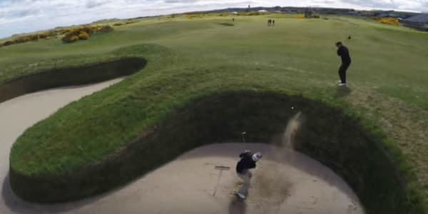 St. Andrews durch die Trickshot-Brille der Bryan Bros. (Foto: Youtube)