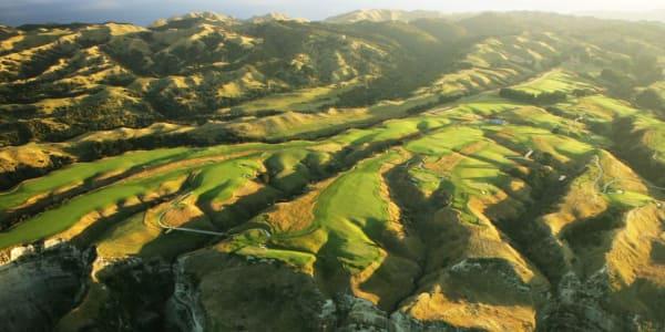 Blick auf Cape Kidnappers und seinen Golfplatz. (Foto: Getty)