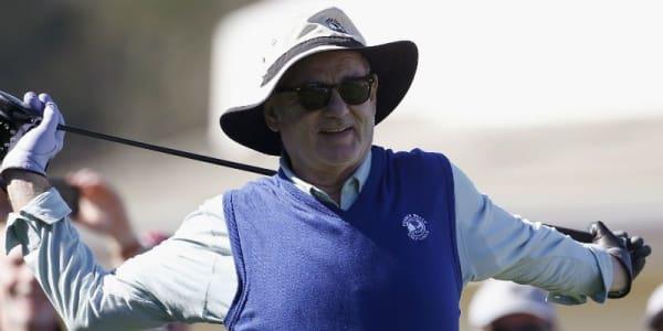 Entspannt und alles im Griff? Bill Murray legte in Pebble Beach wieder einen Auftritt der besonderen Art hin. (Foto: Getty)