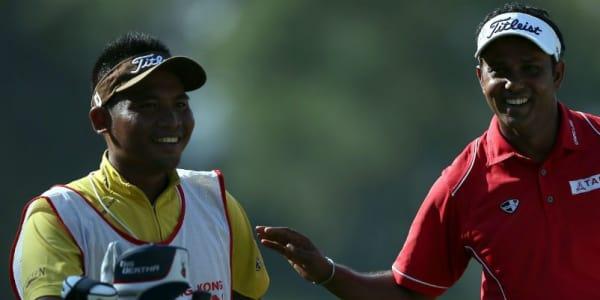Indian Open Sieger SSP Chawrasia Blick ins Bag