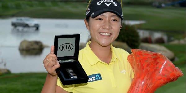 Lydia Ko freut sich über ihren Sieg bei der Kia Classic. (Foto: Getty)