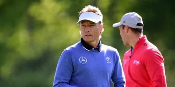 Bernhard Langer blickt nach seiner Auftaktrunde beim Masters nach vorne und Martin Kaymer schaut vergebenen Chancen nach. (Foto: Getty)