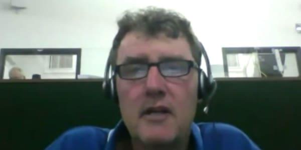 Peter Auf der Heyde berichtet von den deutschsprachigen Teilnehmern beim Masters. (Foto: Screenshot)
