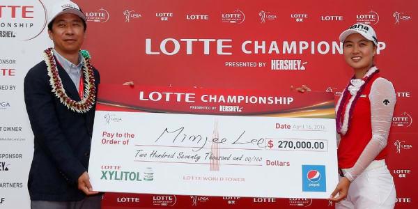 Die Australierin Minjee Lee sichert sich dank einer 64er Finalrunde den Sieg bei der Lotte Championship auf Hawaii. (Foto: Getty)