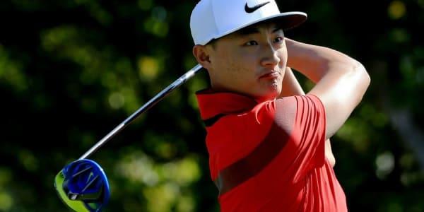Blick ins Bag: Li Haotong aus China gewinnt in seiner Heimat unter anderem mit seinem Nike Vapor Fly Pro Driver. (Foto: Getty)