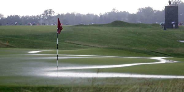 Der erste Tag der US Open 2016 entwickelte sich zur Regenschlacht. (Foto: Getty)