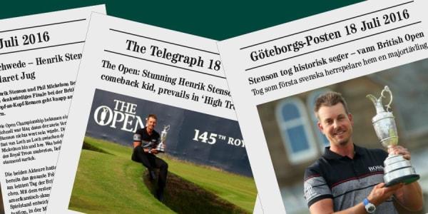 Henrik Stenson gewinnt die British Open - und ist Thema in allen Medien. (Foto: Getty)