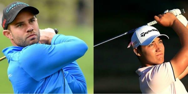 Bernd Ritthammer (l) und Dominic Foos teilen sich bei der Northern Ireland Open den zweiten Platz. (Foto: Getty)