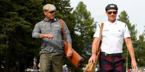 Danny Willet und Lee Westwood haben sich für die Hickory Golf Challenge in Schale geworfen. (Foto: Getty)