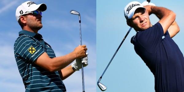 Bernd Wiesberger (links) kann noch um den Sieg mitspielen. Kieffer hofft auf Top 20. (Foto: Getty)