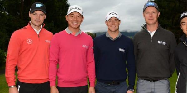 Die prominente Gäste von li.: Martin Kaymer, Wu Ashun, Alex Noren, Mikkko Ilonen, Jin Jeong (Foto: Kitzbühel Tourismus)