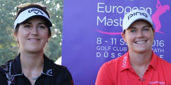 Sandra Gal und Caroline Masson freuen sich auf das Heimspiel beim Ladies European Masters. (Foto: Golf Post)
