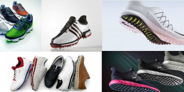 Wir haben für Sie eine Auswahl an Golfschuhen für die Saison 2017 zusammengestellt, von der wir glauben, dass Sie die besten Schuhe abdeckt. (Foto: FootJoy/adidas/Puma/Ecco/Nike)