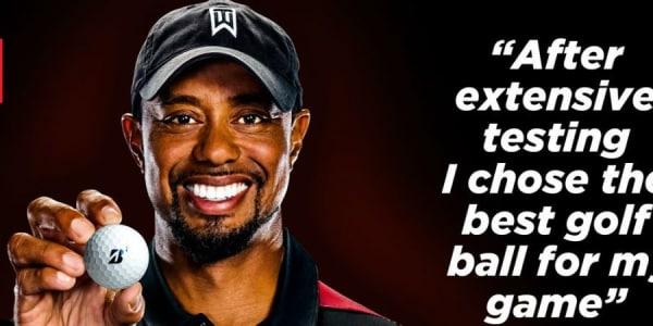 Wird die Kugel ihm gute Dienste leisten? Tiger Woods entscheidet sich für Bridgestone als neuen Ausrüster. (Foto: Bridgestone Golf / Tiger Woods)