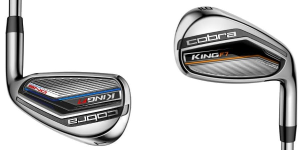 Die Cobra King F7 One Length Eisen (re.) im großen Video-Check mit PGA Pro Florian Raggl. (Foto: Cobra Golf)