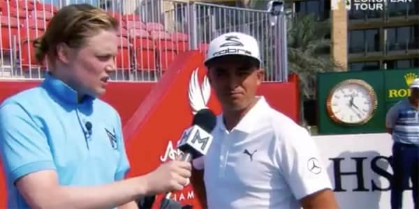 Golf Video Awkward Reporter European Tour Abu Dhabi HSBC Championship