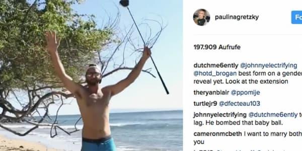 Dustin Johnson Paulina Gretzky Baby Geschlecht Golf Video