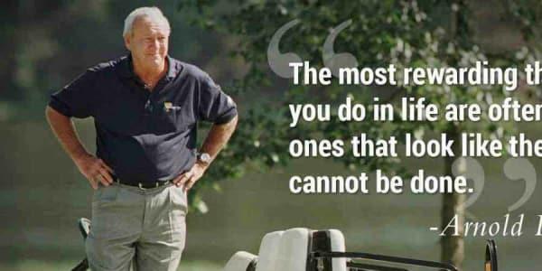 Arnold Palmer änderte mit vielen und bekannten Zitaten die Blickwinkel der Golfwelt. (Foto: Twitter @PGATour)