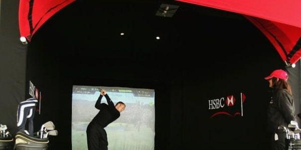 So kann ein Golfsimulator aussehen. Dieser steht in England. (Foto: Getty)