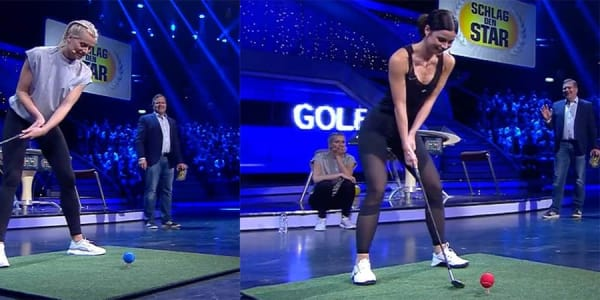 Golf-Darts bei Schlag den Star Lena Gercke vs. Lena Meyer-Landrut