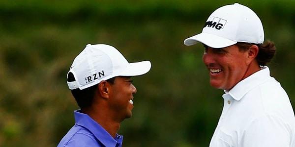 Tiger Woods fungierte für Phil Mickelson, der bei der PGA Championship 2017 sein 100. Major spielen wird, als Motivator. (Foto: Getty)