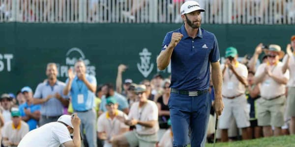Dustin Johnson triumphiert im Playoff über Jordan Spieth. (Foto: Getty)