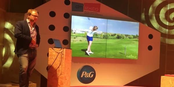 Golf Post Vorstand Matthias Gräf als Redner auf der digitalen Leitmesse für digitales Marketing dmexco 2017 in Köln (Foto: Kathrin Ivenz)