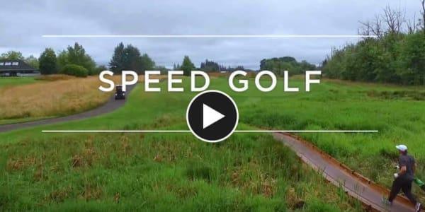 Bei Adventures in Golf stellt sich Erik Anders Lange dem Speedgolf. (Foto: Screenshot)