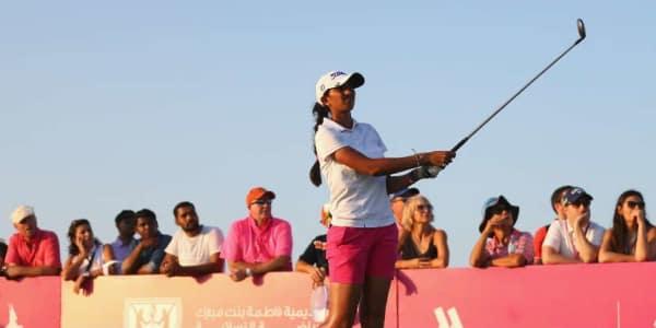 Aditi Ashok gewinnt die Fatima Bint Mubarak ladies Open in Abu Dhabi. (Foto: Getty)