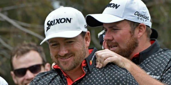 Shane Lowry und Graeme McDowell machen Steve Stricker und Sean O'Hair beim QBE Shootout Konkurrenz. (Foto: Getty)