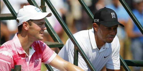 Martin Kaymer und Tiger Woods bei der Genesis Open 2018. Tee Times. (Foto: Getty)