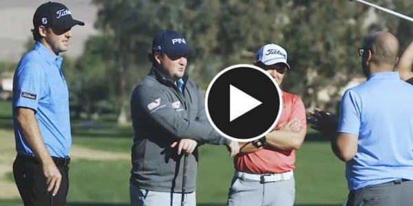 Stephan Jäger (rechts) und seine Kollegen von der PGA Tour stellen einen neuen Weltrekord auf. (Foto: YouTube.de/18Birdies)