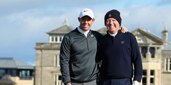 Rory McIlroy und sein Vater gelingen Birdies am selben Loch