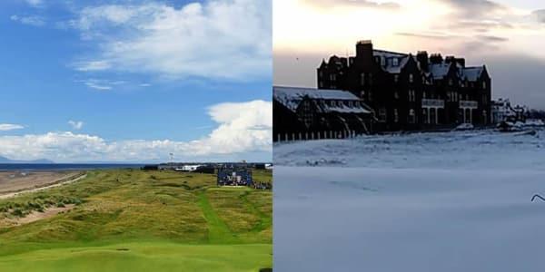 Golf Fotostrecke Britische Linkskurse im Schnee