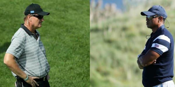 Beim Presidents Cup 2017 standen sich Ernie Els und Tiger Woods als Vize-Captains gegenüber. (Foto: Getty)